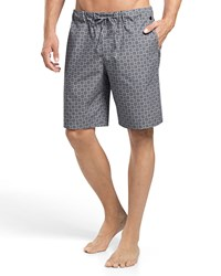 Hanro Sergio Printed Woven Lounge Shorts Gray White Grey White
