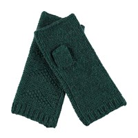 Lowie Cashmere Blend Fingerless Gloves In Forest Green