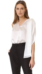 Zac Posen Sleeveless Blouse Off White