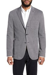 Sand Trim Fit Cotton Blend Blazer Navy