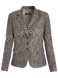 Betty Barclay Graphic Jacket Grey Melange
