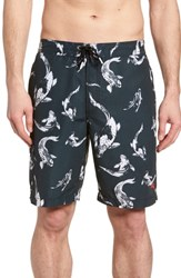 Tommy Bahama Big And Tall Baja Kois Are Back In Town Board Shorts Black