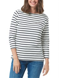 Sugarhill Boutique Let Love Rule Brighton Breton Charity T Shirt Navy White