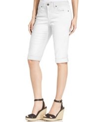 Style And Co. Cuffed Capri Skimmer Jeans Bright White