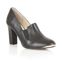 Lotus Crew High Heel Shoes Black Leather