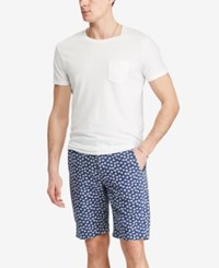 Denim And Supply Ralph Lauren Men's Slim Fit Floral Print Cotton Chino Shorts Navy