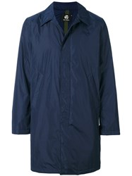 Paul Smith Ps By Single Breasted Coat Nylon Polyester Xxl Blue
