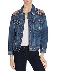 Joe's Jeans Bella Floral Embroidered Denim Jacket Kaya