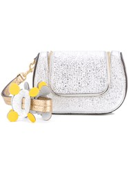 Anya Hindmarch 'Circulus Mini Vere' Satchel Women Leather One Size Metallic