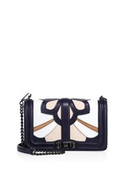 Rebecca Minkoff Floral Patchwork Love Leather Crossbody Bag Moon Multi