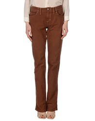 Jaggy Casual Pants Brown