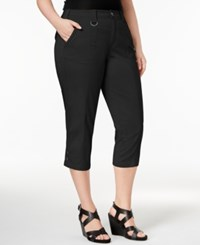 Style And Co Plus Size Capri Cargo Pants Only At Macy's Deep Black