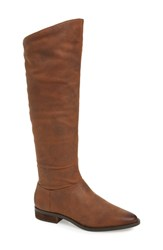 Band Of Gypsies Luna Over The Knee Boot Brown Faux Leather