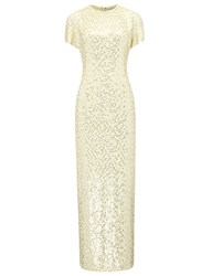 Jonathan Saunders Buttermilk Silk Sequin Sidney Dress Yellow
