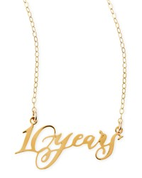10 Years Anniversary Calligraphy Necklace Brevity Gold