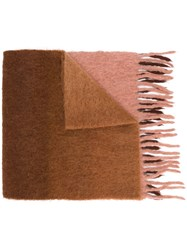 Acne Studios Chunky Fringes Scarf Brown
