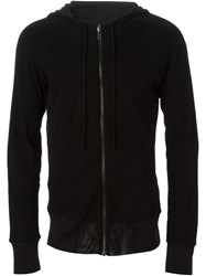 Ann Demeulemeester Zip Hooded Top Black