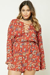 Forever 21 Plus Size Lace Up Romper