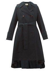 Acne Studios Olwen Double Breasted Trench Coat Dark Green