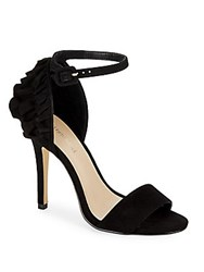 Saks Fifth Avenue Phoenix Leather Ankle Strap Sandals Black
