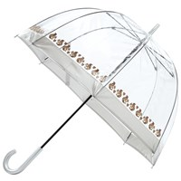 Fulton Birdcage Squirrel Print Umbrella Clear Brown