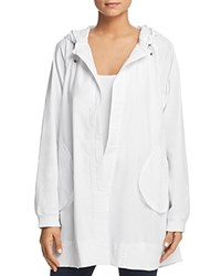 Kenneth Cole Oversized Cotton Hoodie White