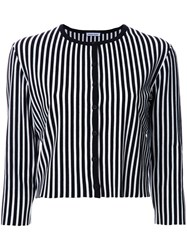Tomas Maier Striped Button Down Cardigan Black