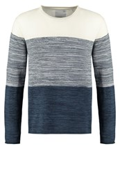 Minimum Banbury Jumper Medium Blue Off White