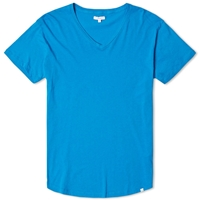 Orlebar Brown Bobby V Neck Tee Dive Blue