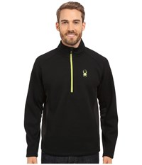 Spyder Outbound Half Zip Mid Weight Core Sweater Black Black Theory Green Men's Sweater