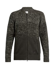 Adidas Originals By Wings Horns Zip Through Wool And Cotton Blend Top Grey