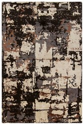 Chandra Rupec Patterned Rectangular Contemporary Area Rug Grey Beige Brown 5' X 7'6 Gray