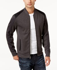 Inc International Concepts Men's Colorblocked Knit Jacket Only At Macy's Heather Onyx