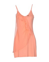 Tirdy Dresses Short Dresses Women Salmon Pink