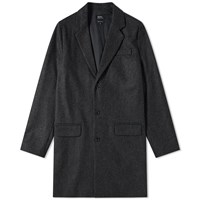 A.P.C. Majordome Wool Chesterfield Coat Grey