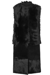 Karl Donoghue Reversible Shearling Gilet Black