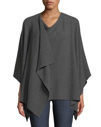 Lafayette 148 New York Cashmere Ribbed Wrap Graphite Melange