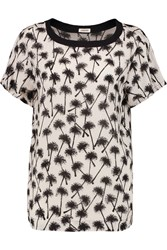 L'agence Printed Satin Top Brown