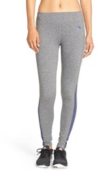 The North Face Women's 'Pulse' Compression Tights Med Grey Heather Patriot Blue