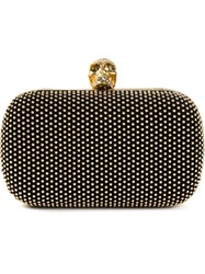 Alexander Mcqueen 'Skull' Studded Box Clutch Black