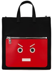 Fendi Faces Shopper Tote Black