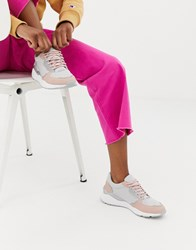 Blink Runner Lace Up Trainers Pink Grey