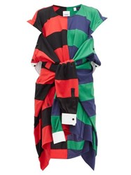 Burberry Rugby Shirt Cotton Dress Red Multi