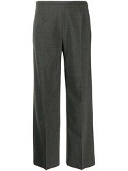 Piazza Sempione Cropped Flared Trousers Grey