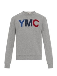 Ymc Logo Print Cotton Sweatshirt