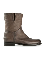 Santoni Pebbled Distressed Boots Nude And Neutrals