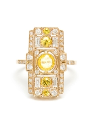 Sabine G 18Kt White Gold And Yellow Sapphire Ring