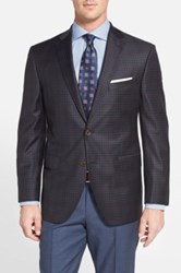 David Donahue 'Connor' Classic Fit Check Wool Sport Coat Blue