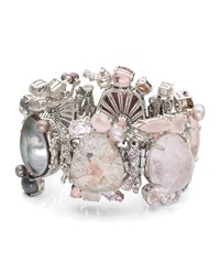 Stephen Dweck One Of A Kind Pink And Gray Stone Bracelet