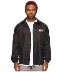 Huf X Pigpen Coachs Jacket Black Men's Coat